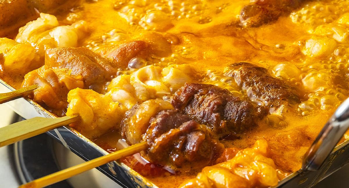 名物『牛ホルモン串煮込み鍋』